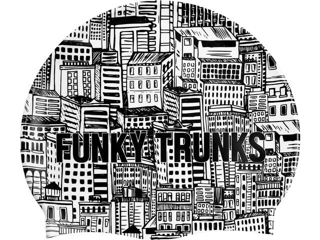 Funky Trunks Silicone Gorro de natación, city shadows